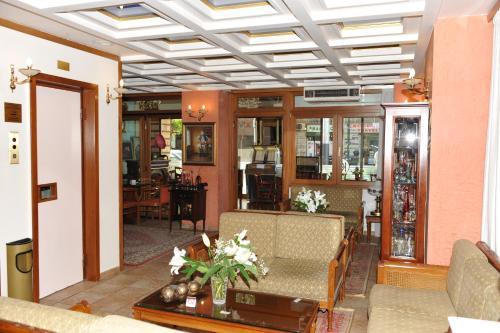 The lobby or reception area at Hotel Katerina