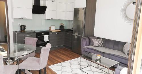 A kitchen or kitchenette at SOSNOWA Luxury Apartment