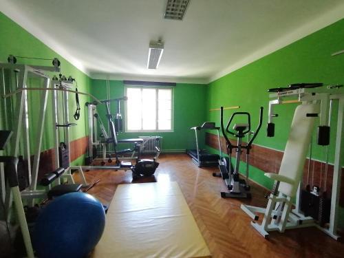 Fitnes oz. oprema za telovadbo v nastanitvi Hostel Šest pik