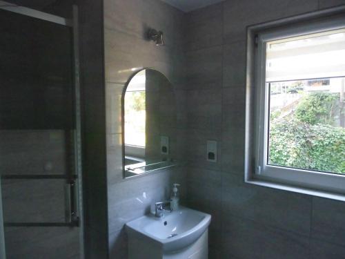 A bathroom at Bezowy pokój