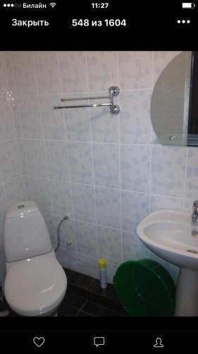A bathroom at Дельфин