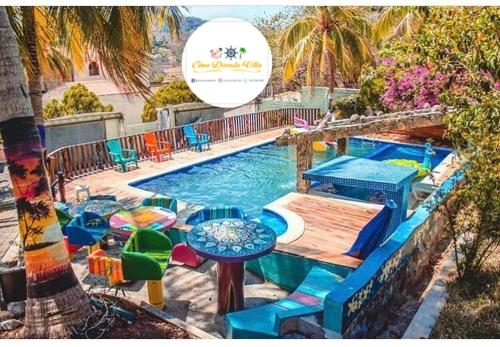 A view of the pool at Cima Dorada Villa or nearby