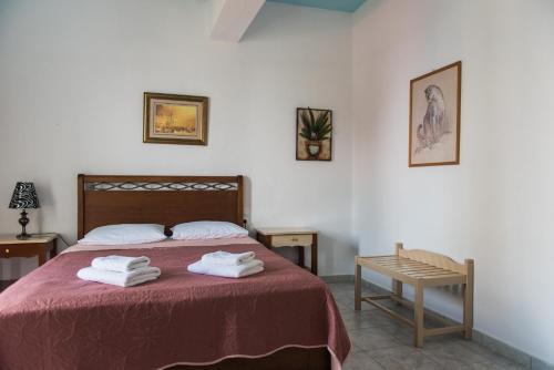 Ένα ή περισσότερα κρεβάτια σε δωμάτιο στο Sea View