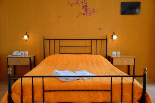 Krevet ili kreveti u jedinici u okviru objekta Finikas Studios