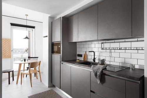 Köök või kööginurk majutusasutuses Bob W. Telliskivi