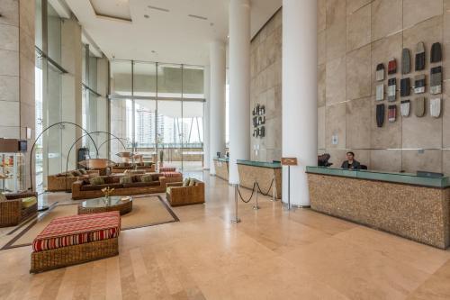 El vestíbulo o zona de recepción de Enjoy Coquimbo