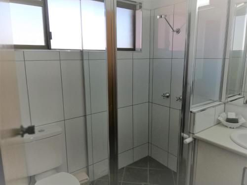 A bathroom at Macintyre Motor Inn