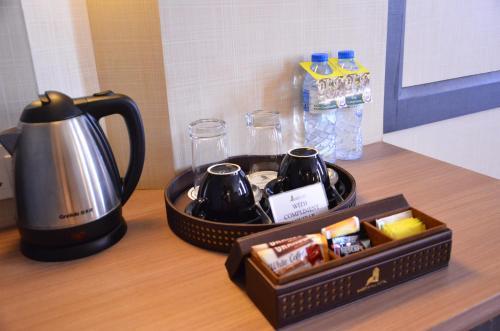 Coffee and tea making facilities at Nagoya Hill Hotel Batam