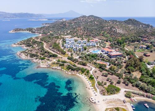 A bird's-eye view of Agionissi Resort