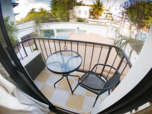 A balcony or terrace at Departamento a una cuadra de la playa