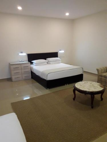 Кровать или кровати в номере Kobuleti Beach Club