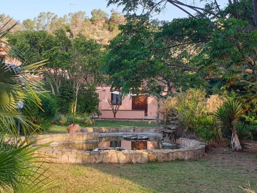 A garden outside Hotel La Valle