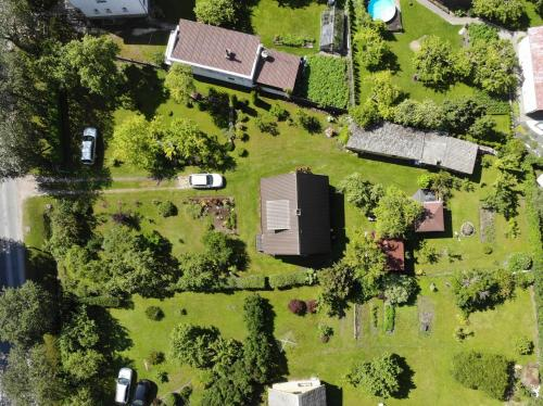 A bird's-eye view of Lush Green Garden Campsite