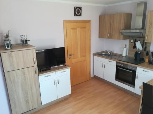 Küche/Küchenzeile in der Unterkunft Hanslbauernhof