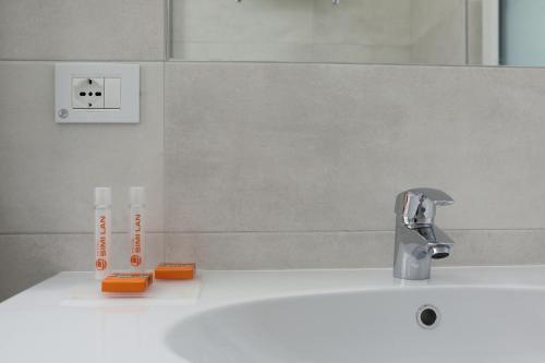 Koupelna v ubytování Hotel Simi Lan