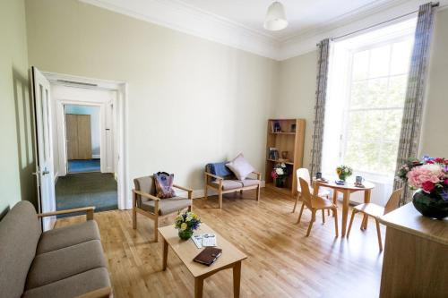 A seating area at Trinity College - Campus Accommodation
