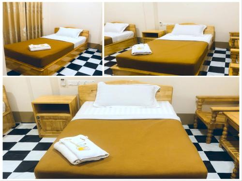 A bed or beds in a room at Pinlon Hostel