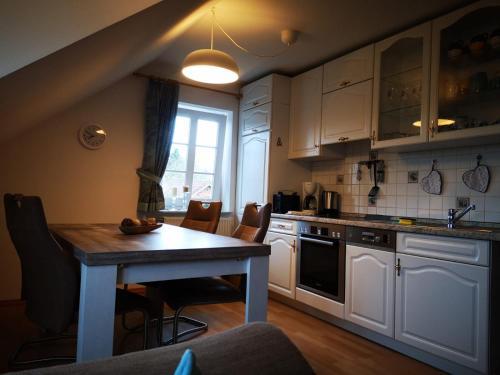 Küche/Küchenzeile in der Unterkunft Frische Brise
