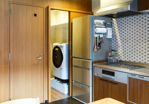 A kitchen or kitchenette at Guest House Goettingen