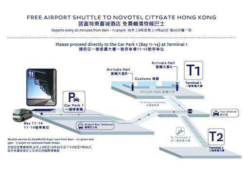 The floor plan of Novotel Citygate Hong Kong