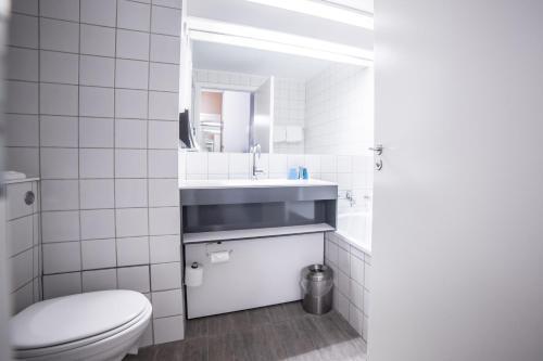 Ванная комната в Comwell Rebild Bakker
