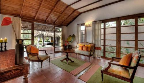 A seating area at Evolve Back Coorg