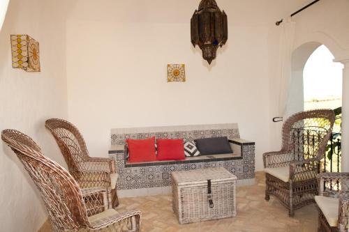 A seating area at Cortijo El Guarda