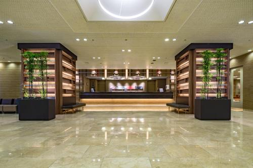 The lobby or reception area at Nagoya Sakae Tokyu REI Hotel