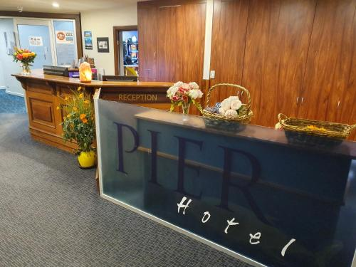 The lobby or reception area at Pier Hotel