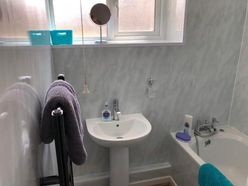 A bathroom at Crescent Court