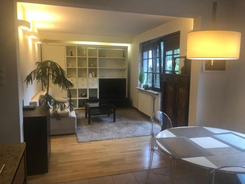 A seating area at Apartament Odkryta 36a