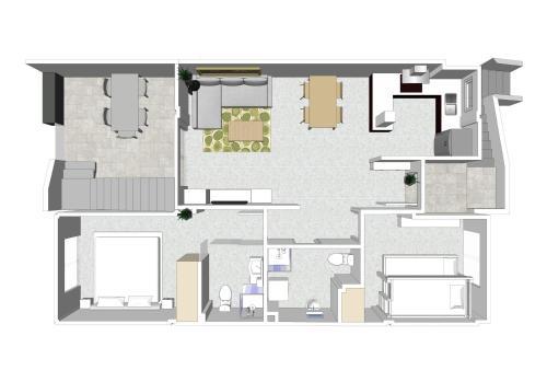 Planlösningen för Penthouse La Zenia