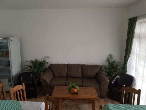 A seating area at Pensiunea Levendula
