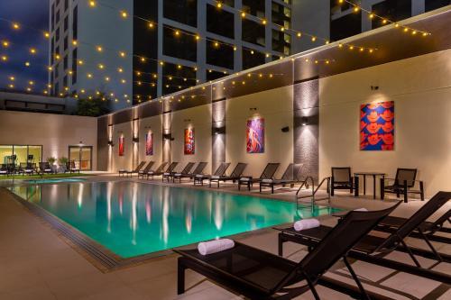 The swimming pool at or near Hilton Austin