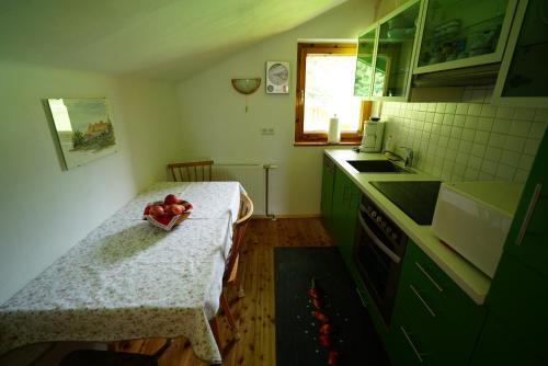 Küche/Küchenzeile in der Unterkunft Haus Waltraut