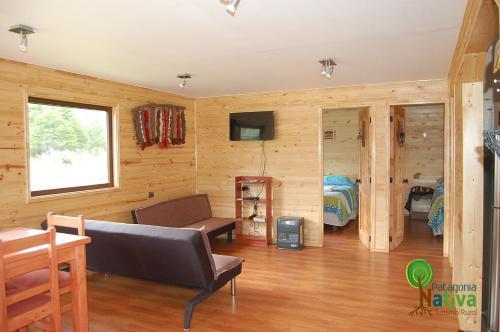 Zona de estar de Cabaña Patagonia Nativa