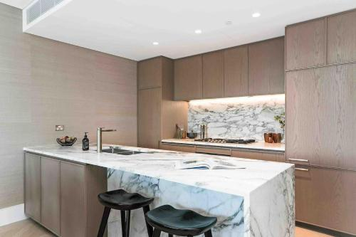 A kitchen or kitchenette at Luxury Millions Dollar CENTRAL Home-Hyde Park View