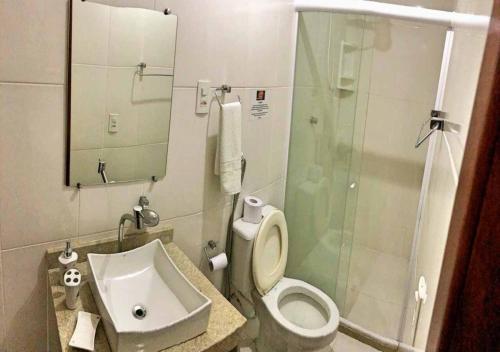 A bathroom at Pousada Ninho da Coruja