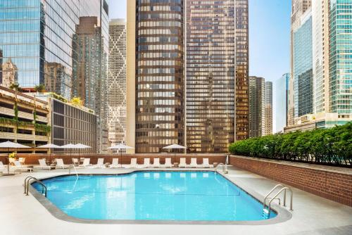 The swimming pool at or near DoubleTree by Hilton Chicago Magnificent Mile