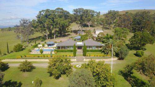 A bird's-eye view of Marrowbone Vineyard Estate - one of the Hunters finest estates