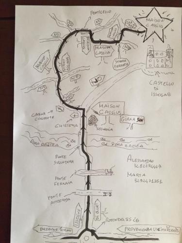 Planimetria di Maison Cassius
