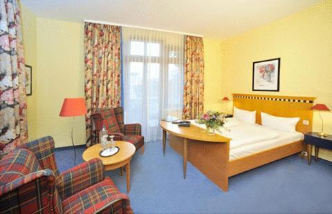 Гостиная зона в Hotel am Kurpark
