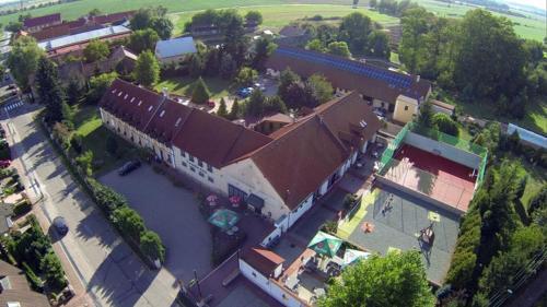 Letecký snímek ubytování Pension u Svateho Jana