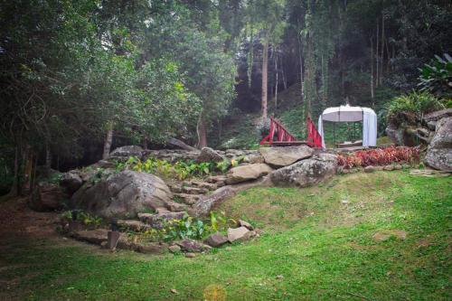 A garden outside Pousada Rancho da Ferradura