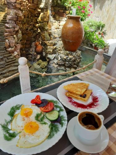 Breakfast options available to guests at Zoremma Mini-hotel