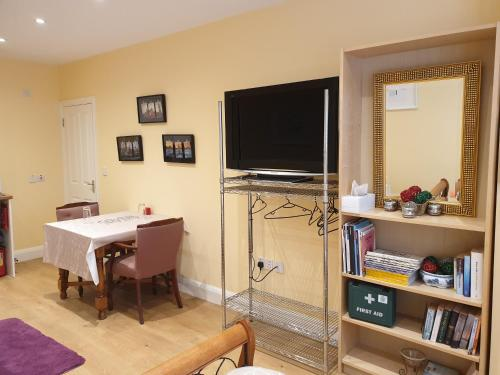 A television and/or entertainment center at London Vegetarian Smoke & Pet Free En-suite