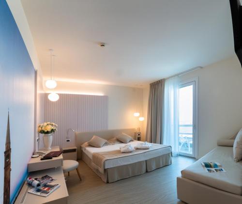 Letto o letti in una camera di Hotel Panoramic
