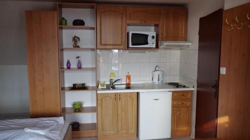 Kuchyňa alebo kuchynka v ubytovaní Penzion Real