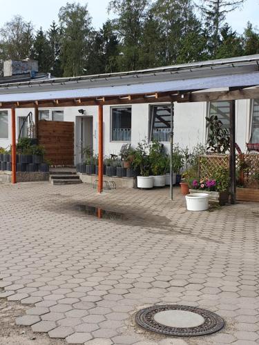 Das Gebäude in dem sich die Ferienwohnung befindet