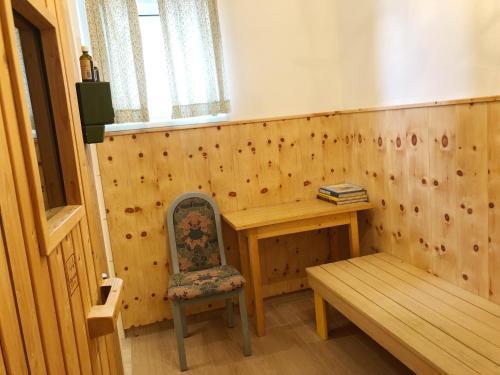 Ein Sitzbereich in der Unterkunft Haus Hoffmann